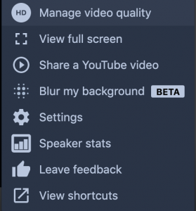 Manage Video Quality